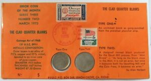 1975 CLAD BLANKS ERRORS USA MINT WASHINGTON QUARTER FIRST DAY COVER