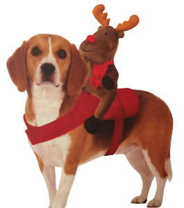 Dog Reindeer Harness MyPets Christmas Xmas Novelty Pet Outfit & Toy For Dogs