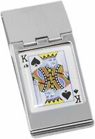 King of Spades Stainless Steel Hinged Money Clip