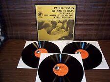 COLUMBIA ODYSSEY STEREO 3-LP Box Set BEETHOVEN Cello & Piano CASALS/SERKIN VG++