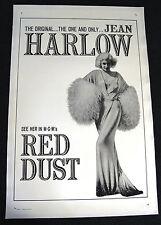 JEAN HARLOW – RED DUST – 1965 ORIGINAL MOVIE POSTER – NEAR MINT, LINEN BACKED
