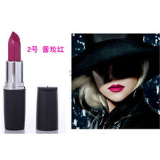 Women Party Fashion Makeup Long Lasting Bright Lipstick Red Black Purple Dark UK