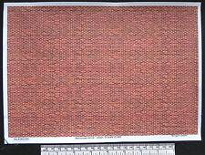 O CALIBRE (1:48 échelle) rouge / marron brique - PAPIER - A4 Feuille (210 x 297