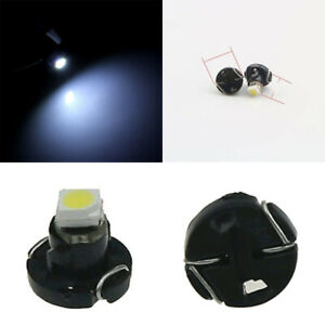 10x Neo Wedge White 1 SMD 1210 LED Car Bulbs T3 HVAC Climate Control Lights N001