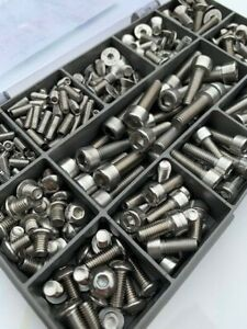 Bike Bolt Kit Assorted A2-70 Stainless Steel Bolts & Screws