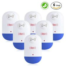 6 Pest Control Ultrasonic Electronic Plug In For Ants Bugs Mice Roaches Repeller