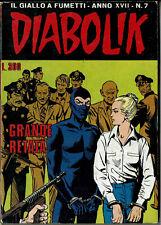 DIABOLIK  XVII #7 - Italian Comic Digest (Il Giallo a Fumetti) - 1978