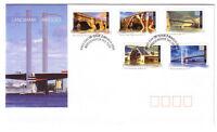 "2004 FDC. Australia. Landmark Bridges. Peel & Stick. PictPMK ""BRIDGEWATER"""