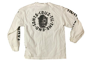 Santa Cruz NHS Skateboards Til The End Long Sleeve T shirt Size Small