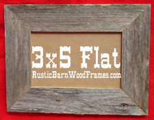 "3x5"" weathered rustic barnwood barn wood picture photo frame distressed natural"