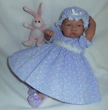"Lilac Dress Mop Fit 3-5 lbs Premature Baby 17-18"" Reborn Dolls 2263 Dolly Togs"