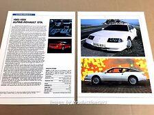 Alpine Renault GTA Original Car Review Print Article J671 1985 1986 1987 1988