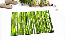Green Bamboo Jungle Rome Floor Carpet Home Area Rug Non-skid Kitchen Door Mat