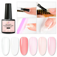 6Pcs MEET ACROSS UV Gel Polish Poly Quick Building Tips Extension Nail DIY Set