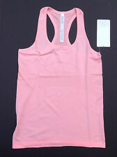 NWT Lululemon RUN: SWIFTLY RACERBACK Tank HEATHERED BLEACH CORAL HBCO (Size 10)