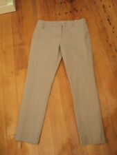 blue illusion grey brushed cotton pants  L  stretch