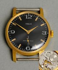 POBEDA schöne elegante soviet Uhr. TOP! USSR vintage retro suit watch black dial
