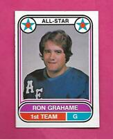 RARE 1975-76 OPC WHA # 61 AEROS RON GRAHAME GOALIE AS EX-MT CARD   (INV# C7925)