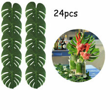 24PCS Tropical Hawaiian Party Green Leaves Luau Moana Table Decorations Bulk