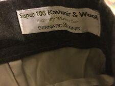 NOS Folio Saks Fifth Avenue Size 8 27x26 Gray Kashmir & Wool French Dress Pants