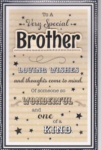 Large Special Brother Birthday Card 8 Page Verse Keepsake Gift Card