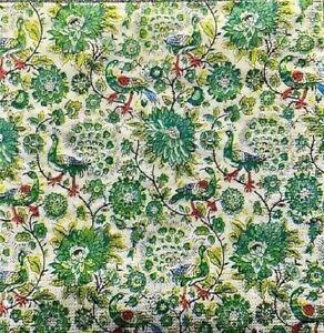 4 x Single Paper Napkins/3 Ply/33cm/Decoupage/Green/Peacocks/Flowers