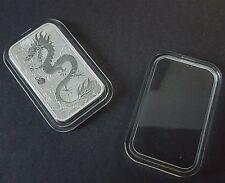 5 x 1 oz Perth Mint Dragon SILVER rectangular coin capsules (designed fit)