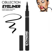 Collection Cosmetics Extreme 24hr Felt Tip Nib EyeLiner Eye Makeup Look - Black