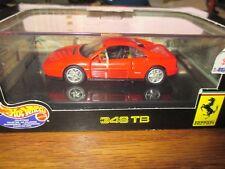 Hot wheels Ferrari 348 TB Red Car Die-Cast 1:43 Scale NEW In Box # 25712