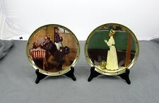Set of 2 Norman Rockwell Plates 'Musician's Magic' & 'A Mother's Welcome' w/ Coa