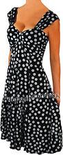 QT2 FUNFASH BLACK WHITE POLKA DOT PLUS SIZE DRESS COCKTAIL CRUISE DRESS 1X 18 20