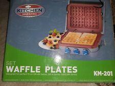 Kitchen Maestro Set Bronze Waffle Plates Km-201 - Gr-4, Gr-4N & Grid-8N Series