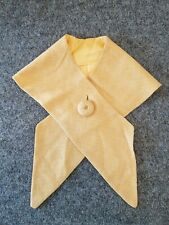 *Vintage Woman's 1940's Camel Colored 1 Button Wool Shawl Collar Scarf Accessory
