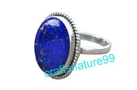 Blue Lapis Lazuli Ring 925 Sterling Silver Ring Size L M N O P Q R S T V X Z Blt