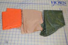3 colors tan desert orange OD green parachute fabric 1.2 oz USA 15 yards 5 each