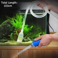 New Aquarium Gravel Fish Tank Vacuum Syphon Cleaner Pump Water 103cm、FA