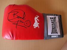 """Herol """"BOMBER"""" Graham autentico firmato LONSDALE BOXING GLOVE-Boxe La Leggenda"""