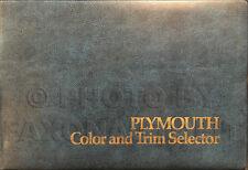 1974 Plymouth Color Upholstery Dealer Album Fury Satellite Barracuda Valiant Etc