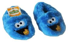 COOKIE MONSTER SESAME STREET Plush Slippers Infant Sz. 2, 3, 4 & Toddlers 5 or 6