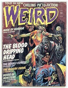 Weird V.9#3 Sept. 1976 Eerie Publications bloody vampire mummy cover horror A941