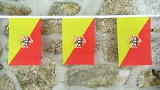 More details for sicily region italy flag polyester bunting - various lengths