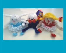 KNITTING PATTERN FOR 3 EASTER CREME EGG HOLDERS. BUNNY, DANCER, HUMPTY DUMPTY