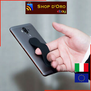 Supporto Universale Anello Smartphone Cellulari Grip Dito Silicone Back Phone