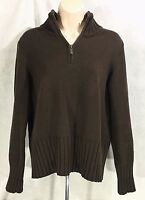 Womens Petite Land End 1/4 Zipper Pull Over Sweater Sz MP