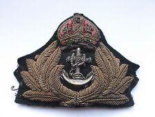 royal navy  officers bullion peaked  cap insignia  badge