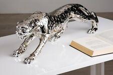 GIGANTESCO leopardato modello argento 80cm Lunghezza da Resina Sintetica Di