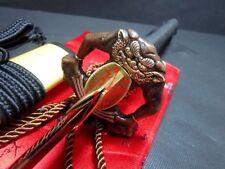 hand forged folded steel titanium adsorb japanese katana demon tsuba sword sharp