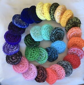 Nylon Tulle Scrubby *Pick Your Color* Scrubbies Dish Or Bath Scrubber