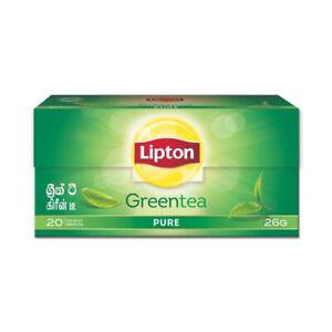 LIPTON GREEN TEA 20 Bags Pure Ceylon BOPF 26g Sri Lanka Fresh Tea
