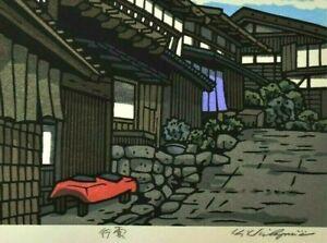 ORIGINAL SIGNED JAPANESE WOODBLOCK PRINT KATSUYUKI  NISHIJIMA